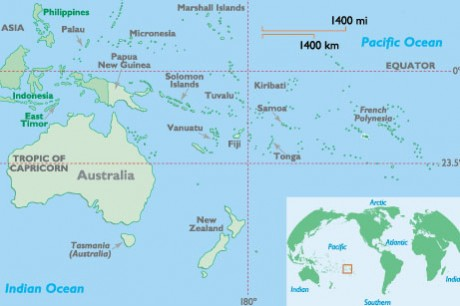 pacific islands blank map  ... appears to doubt