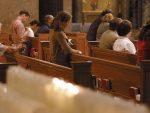 CATHOLIC COMMUNITY OBSERVES SILENCE DURING MASS